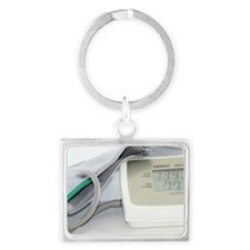 Digital blood pressure monitor Landscape Keychain