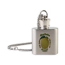 Ruthless Green Peaches Flask Necklace