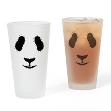 Stitched Panda Face Drinking Glass