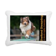 Shetland Sheepdog Agilit Rectangular Canvas Pillow