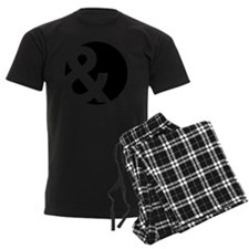 Ampersand Circle Black Pajamas