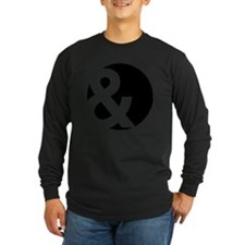 Ampersand Circle Black T
