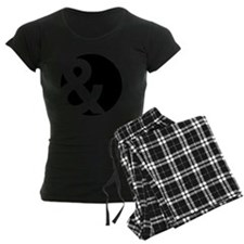 Ampersand Circle Black Pajamas