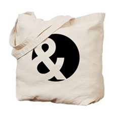 Ampersand Circle Black Tote Bag