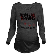 zombies eat brains y Long Sleeve Maternity T-Shirt