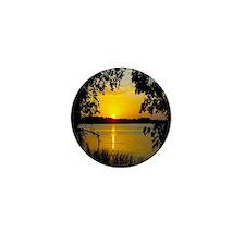 Sunset Lake - Yellow Mini Button