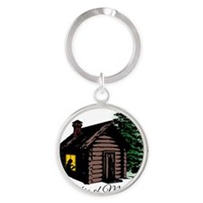 A Cabin of my own Round Keychain