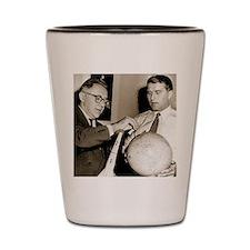 Wernher von Braun and Willy Ley Shot Glass