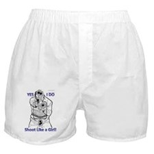 shoot like a girl! Boxer Shorts