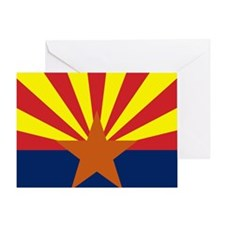 Arizona State Flag Greeting Card