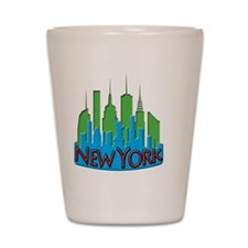 NYC Skyline NewWave Primary Shot Glass