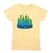 NYC Skyline NewWave Primary Girl's Tee