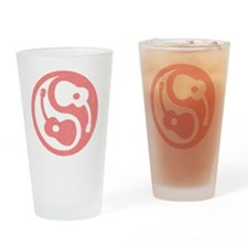 guitar-yang-open-pink Drinking Glass