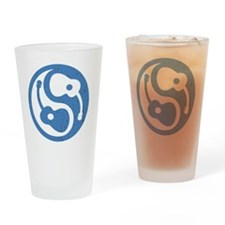 guitar-yang-open-blu-brn Drinking Glass