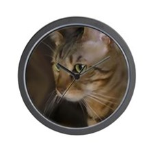 Cute Bengal cat lover Wall Clock