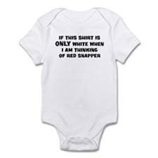 Thinking of Red Snapper Infant Bodysuit