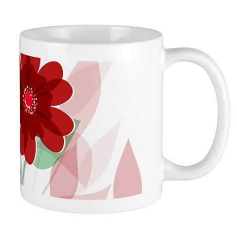 Modern Romantic red floral Design Mugs