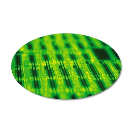 Circuit board 35x21 Oval Wall Decal