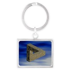 Computer artwork of an impossib Landscape Keychain