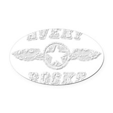AVERY ROCKS Oval Car Magnet