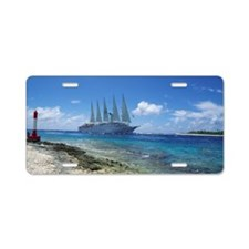 Cruise ship Aluminum License Plate