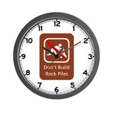 Don't Build Rock Piles, Hawaii (US) Wall Clock