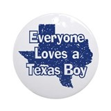 Texas Boy Ornament (Round)