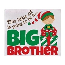 Elf going to be a Big Brother Throw Blanket