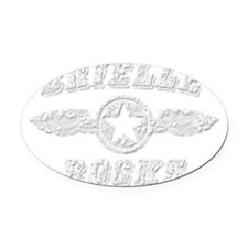 BRIELLE ROCKS Oval Car Magnet