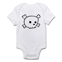Wee Pirate Skull - Kids! Infant Bodysuit