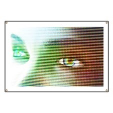 Woman's eyes, computer artwork Banner