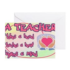 TEACHER HEART SIGN Greeting Card
