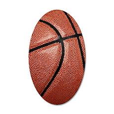 Basketball 35x21 Oval Wall Decal