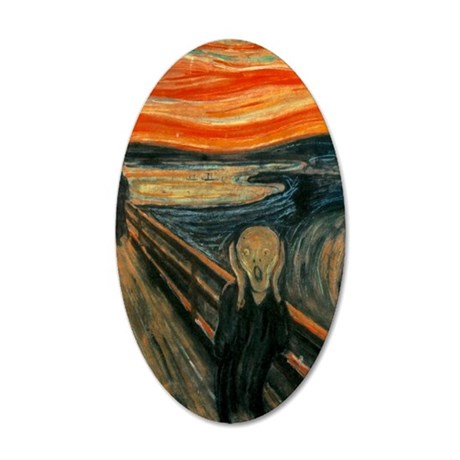 The Scream 35x21 Oval Wall Decal