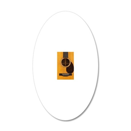 Acoustic Guitar 20x12 Oval Wall Decal