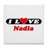 I Love Nadia Tile Coaster