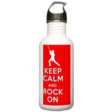 Keep Calm, Rock On Sports Water Bottle
