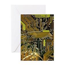 Circuit Board Greeting Card