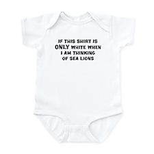 Thinking of Sea Lions Infant Bodysuit