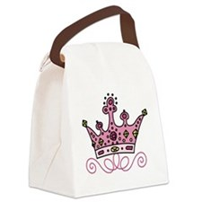 Pink Princess Canvas Lunch Bag