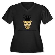 Lioness Women's Plus Size Dark V-Neck T-Shirt