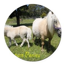 Mini Pony Round Car Magnet