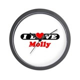 I Love Molly Wall Clock