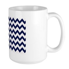 Chevron in Navy Mug