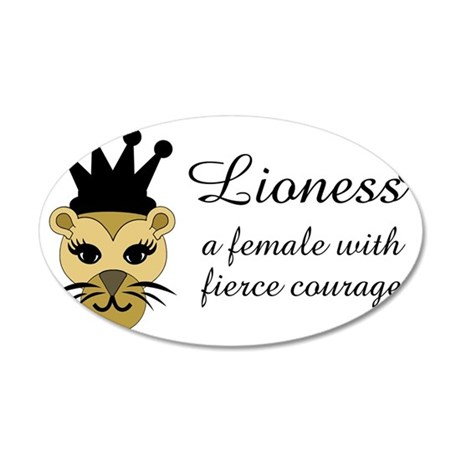 Lioness 35x21 Oval Wall Decal