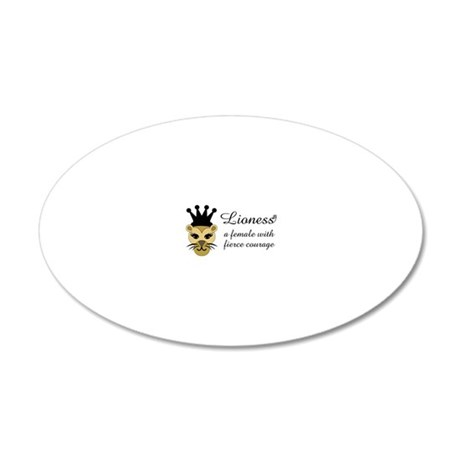 Lioness 20x12 Oval Wall Decal