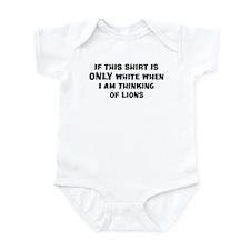 Thinking of Lions Infant Bodysuit