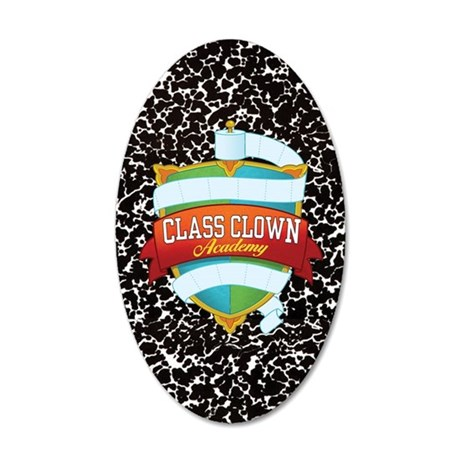 crest 05 keychain oval long 35x21 Oval Wall Decal