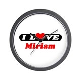 I Love Miriam Wall Clock