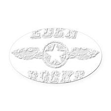 EDEN ROCKS Oval Car Magnet